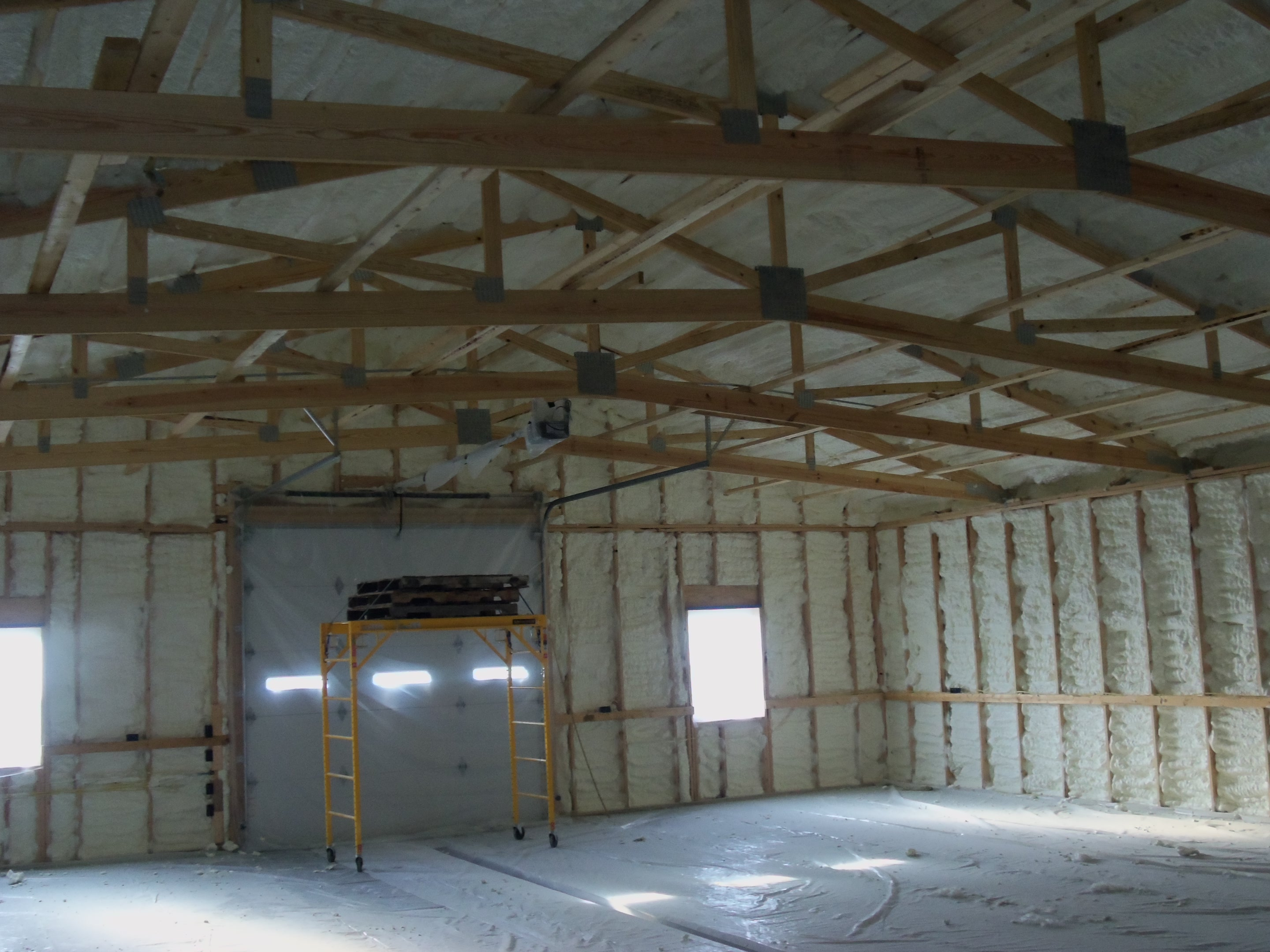 Foam insulation rental equipment pole barn